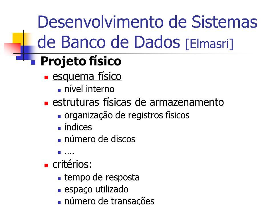 Desenvolvimento de Sistemas de Banco de Dados [Elmasri]